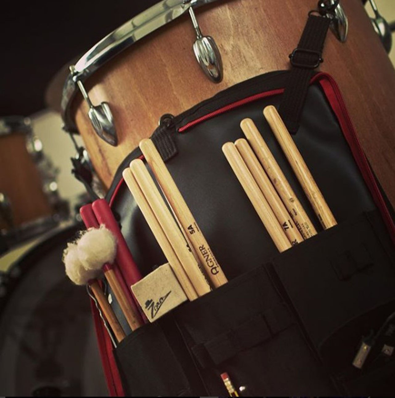 Agner sticks on drum